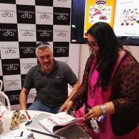 Ishita from Food E Mag with Paul Hollywood - more about December food experiences on mycustardpie.com