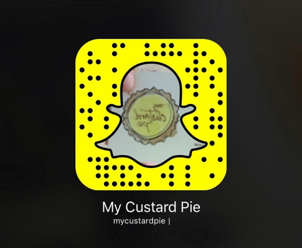 Follow mycustardpie on Snapchat