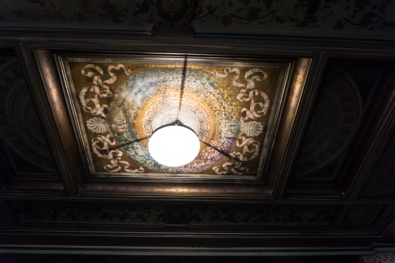 The painted ceilings on Pasticcherie Marchesi. How to have breakfast in Milan on mycustardpie.com
