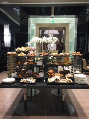 Part of the breakfast display at Excelsior Gallia - where to head if you want an international style breakfast. How to eat breakfast in Italy on mycustardpie.com