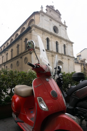 Scooters in Milan Italy on mycustardpie.com