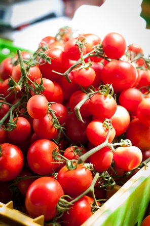 Cherry tomatoes at the farmers market - mycustardpie.com