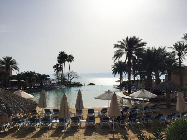 At the Movenpick Dead Sea Resort in Jordan on mycustardpie.com