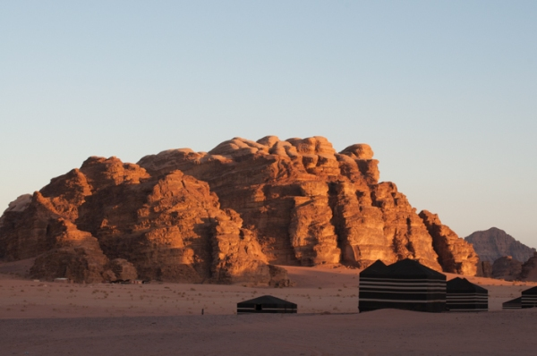 Wadi Rum at sunset. Visit Jordan on a family holiday - mycustardpie.com