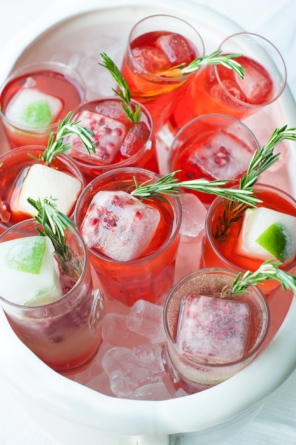Invite your friends. Pomegranate Cointreau fizz on mycustardpie.com