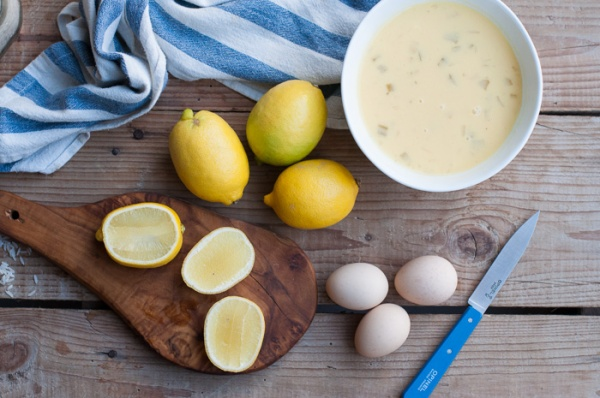 how to make egg and lemon - avgolemono - soup on my custard pie