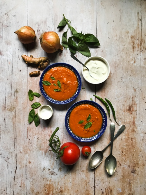 Sweet Potato and turmeric soup