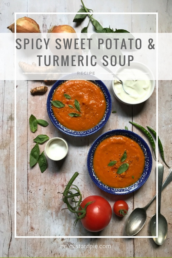 Spicy sweet potato and turmeric soup