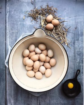 Fresh eggs in a bowl - as part of an Instagram Challenge