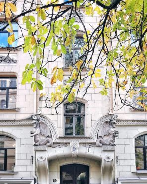 Front of a building in Riga - as part of an Instagram Challenge