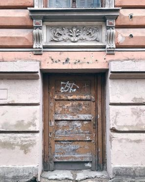 Battered door in Riga - as part of an Instagram Challenge