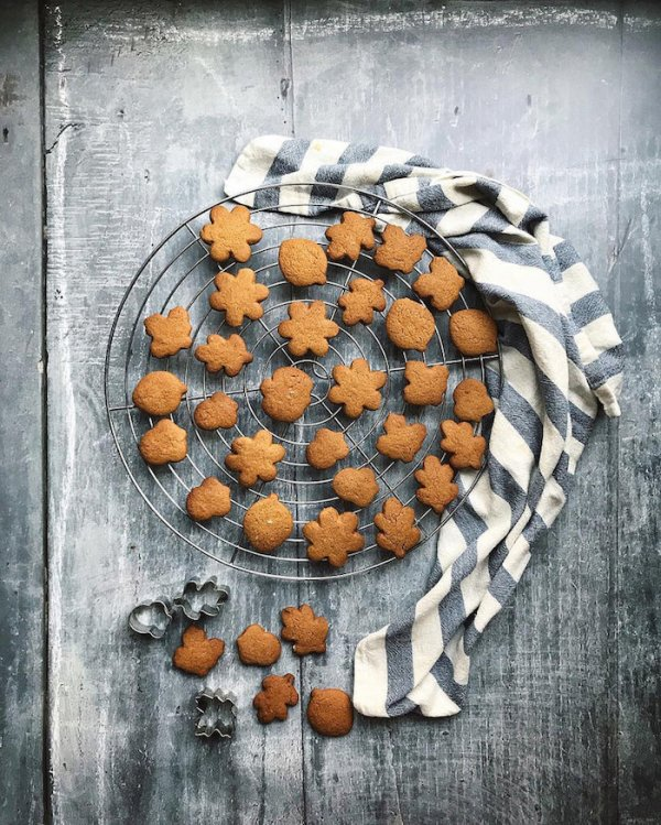 Gingerbread biscuits as part of an Instagram Photography Challenge