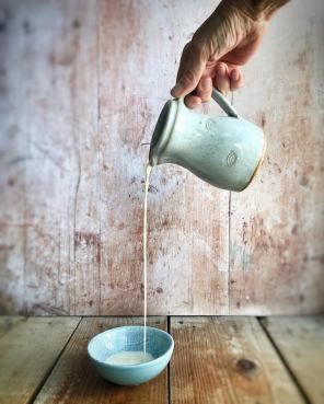 Jug pouring custard - as part of an Instagram Challenge