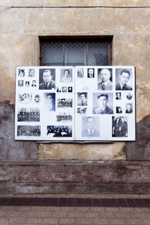 Pictures of people killed during the Holocaust