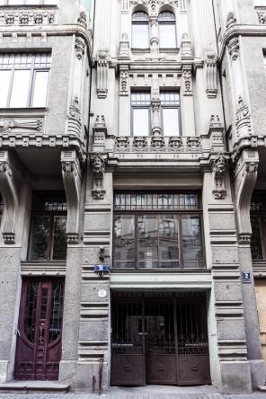 details of art nouveau style riga latvia