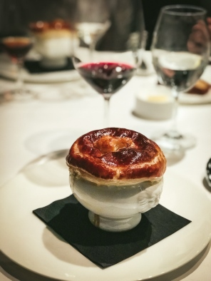 Soup with a pastry top