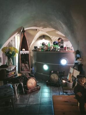 Bar in cellar of restaurant in riga