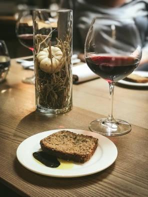 Rye bread and wine