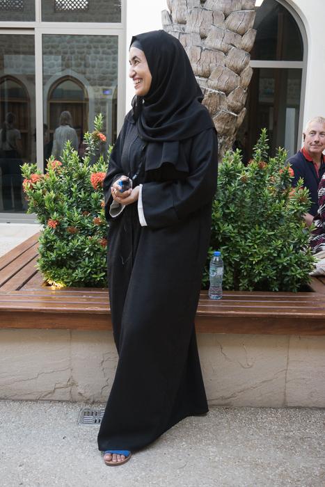 Lady in abaya