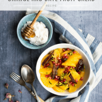 Orange and date fruit salad with loads of options