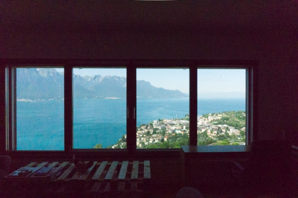 view of lake geneva from a window