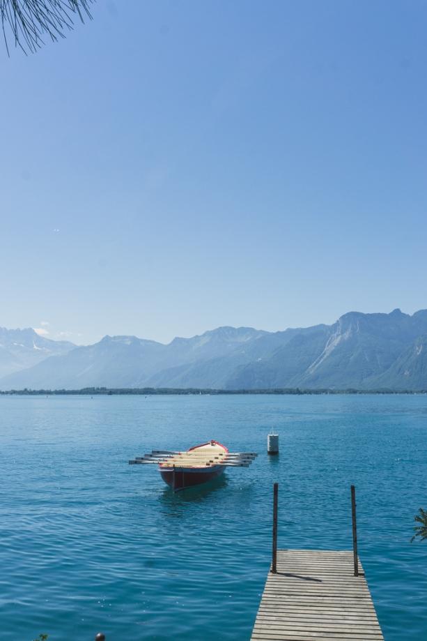 boat on lake geneva