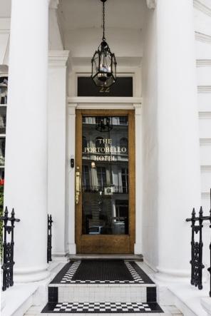 Front door of the Portobello Hotel