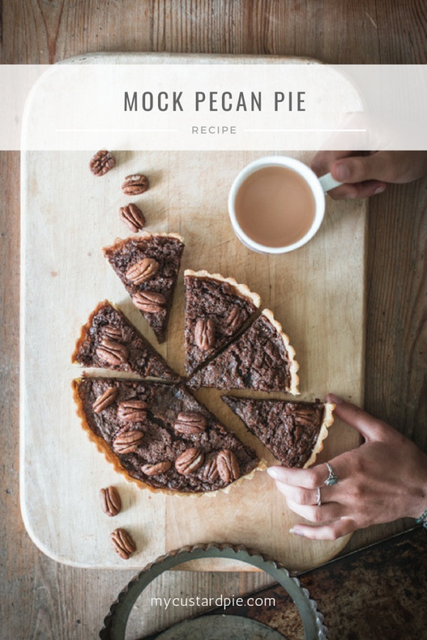 Pin this mock pecan pie to pinterest