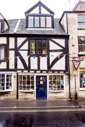 Black and white Half-timbered house in Winchcombe