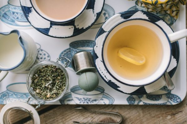 a tea tray with an infusion to replace tea bags