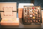 Boxes of Pierre Marcolini Dubai chocolates