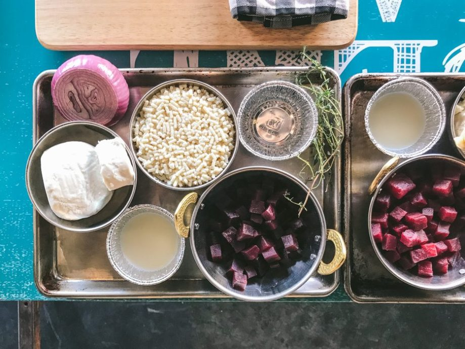 ingredients for beetroot and goats cheese pies
