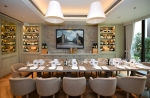A long table and chairs at Il Borro restaurant