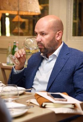 Jean Soubeyrand tasting wine