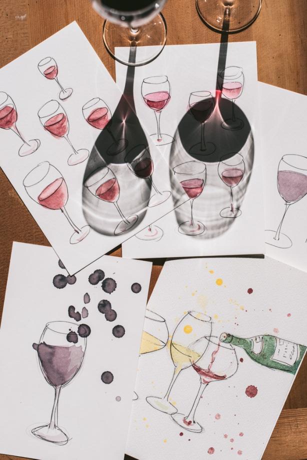 paintings of wine