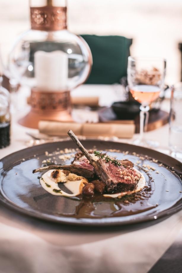 lamb chops on a plate