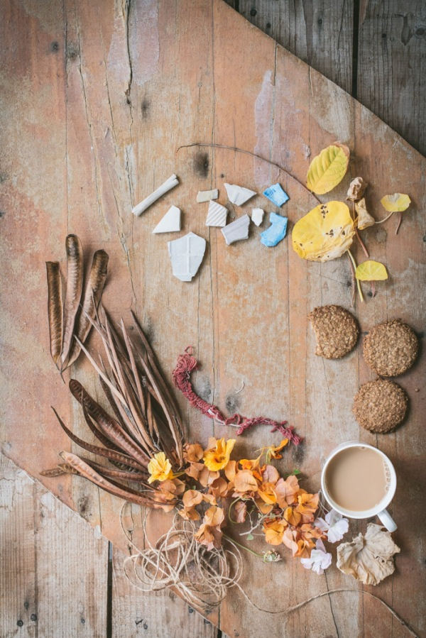 a cup of tea, biscuits and other bits and pieces