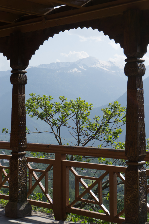 View from Naggar Castle over the Kullu-Manali valley