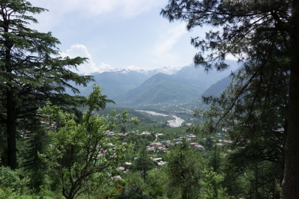 view of Manali valley