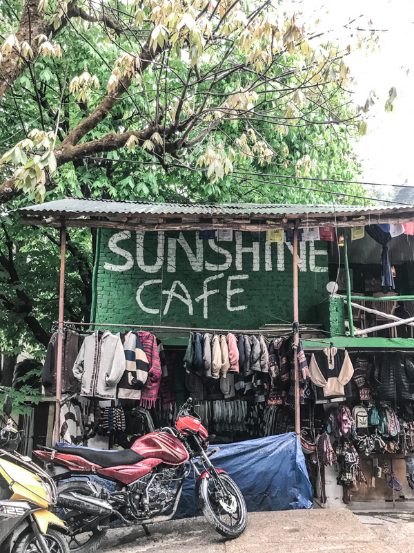 cafe and motorbike