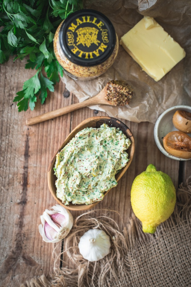 parsley, mustard and preserved lemon butter