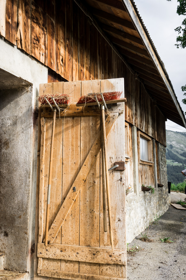 door to cow shed