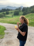eating Reblochon in the mountains