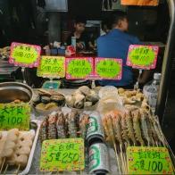 prawns and seafood