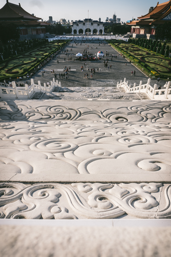 Looking down from Chiang Kai Shek memorial