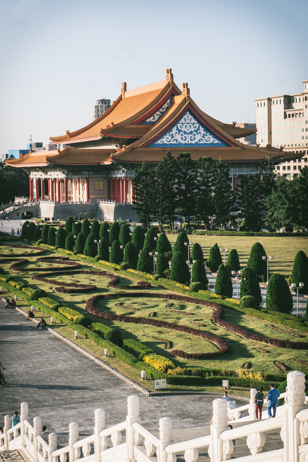 Chinese style building and gardens