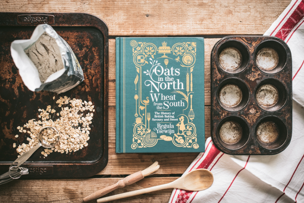 cookery book and baking tins