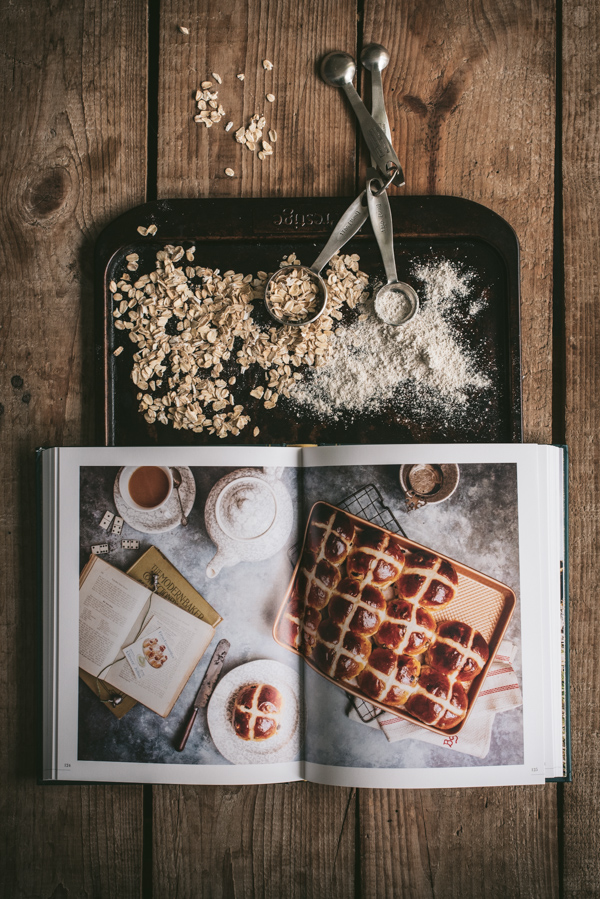 cookery book on a baking tray