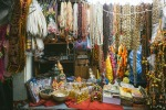 stall with jewellery and statuettes