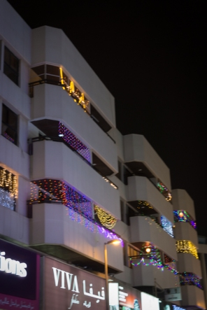 diwali lights on buildings